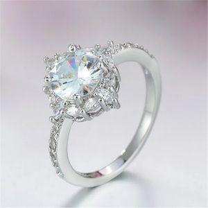 NEW 💍.925 Silver women's AAA Zircon ring